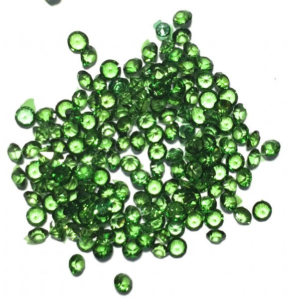 Resin sparkling crystals - 3mm - DARK GREEN